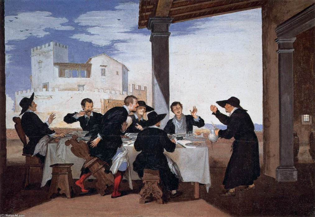 famous painting One Of Father Arlotto's Tricks of Baldassarre Franceschini