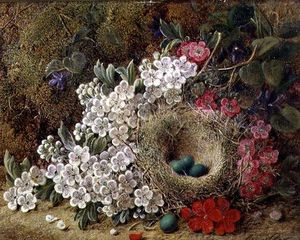 George Clare - A Bird's Nest And Blossom