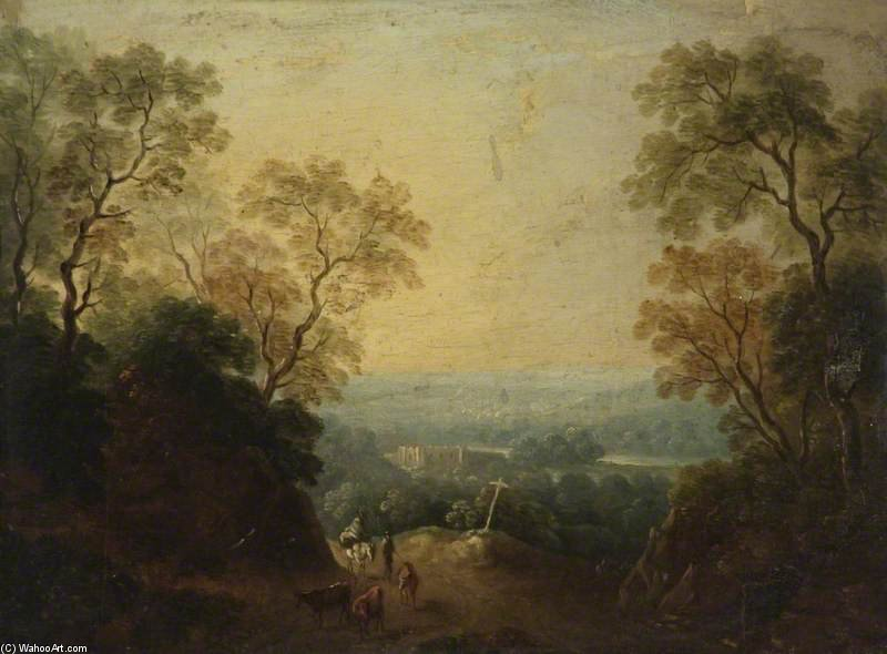 famous painting A View Of Longleat, Wiltshire of Thomas Barker
