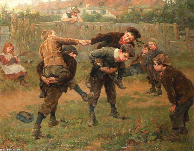 famous painting The Tournament of Ralph Hedley