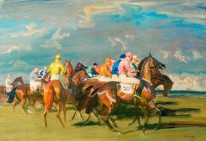 Alfred James Munnings - Study Of 'the Start'