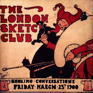 Cecil Charles Aldin - London Sketch Club Invite