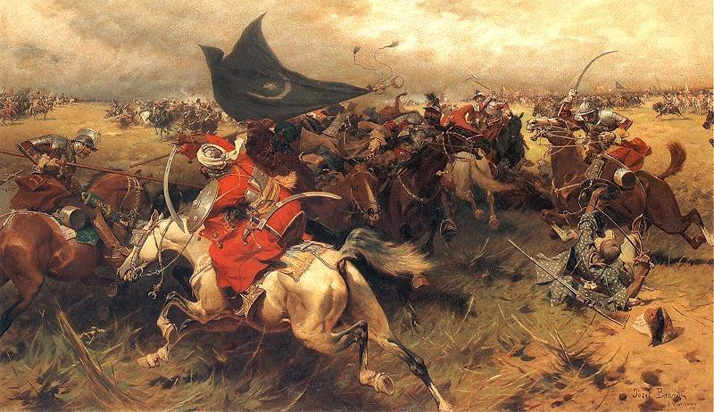 famous painting Battle Over The Turkish Banner of Jozef Brandt