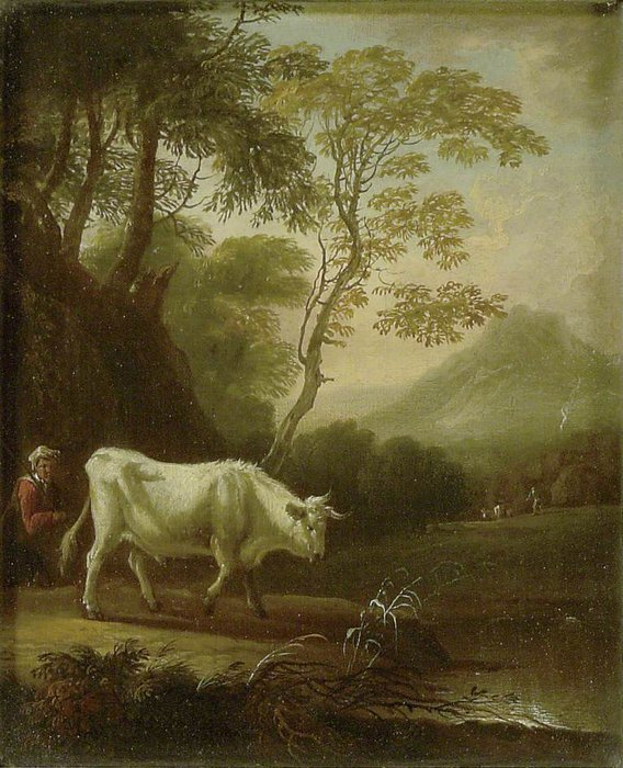 famous painting Landscape With A Bull of Lukas Moser
