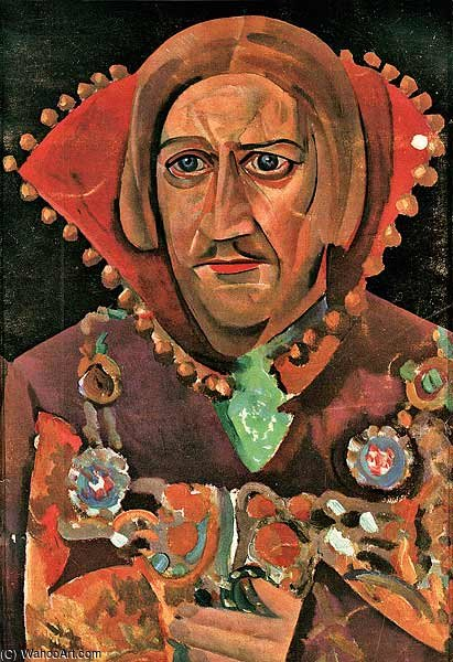 famous painting Portrait Of Vasily Kachalov of Boris Dmitrievich Grigoriev