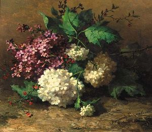Margaretha Roosenboom - A Still Life With Lilacs
