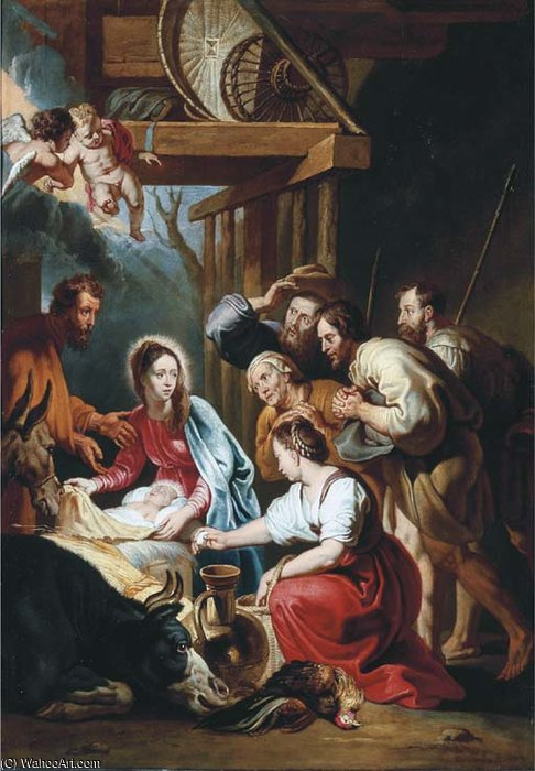 Order Reproductions | Nativity by Willem Van Herp The Elder | Most-Famous-Paintings.com