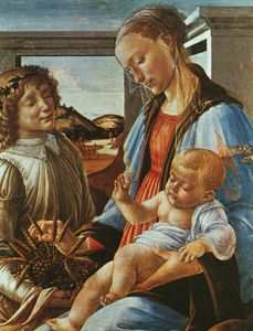 Sandro Botticelli - madonna and child with an angel, after