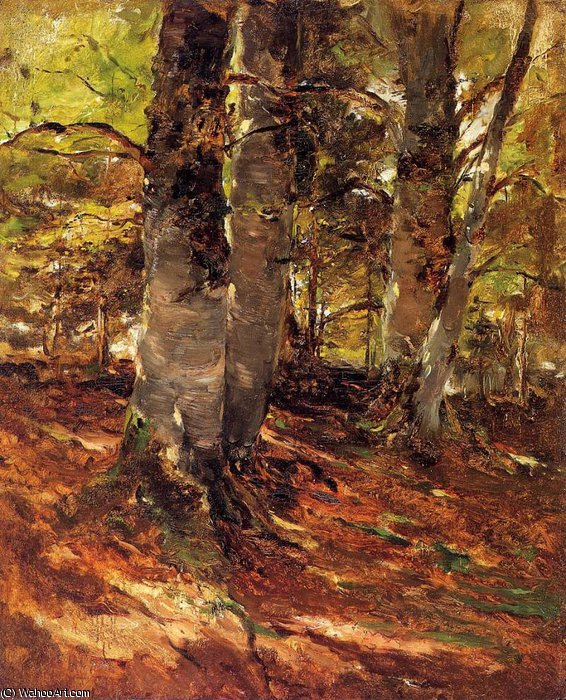 famous painting Beachwoods at Polling of Frank Duveneck