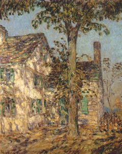 Frederick Childe Hassam - sunlight on an old house (putnam cottage)