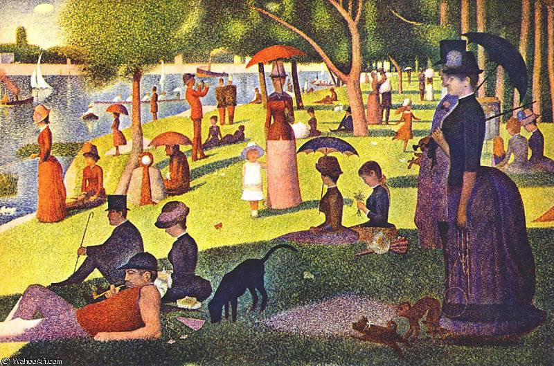 Order Reproductions | grande jatte (large scan) by Georges Pierre Seurat | Most-Famous-Paintings.com