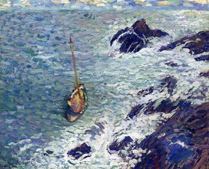 Henri Jean Guillaume Martin - Boat near Cliffs