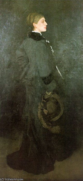 famous painting Arrangement in Brown and Black Miss Rosa Corder of James Abbott Mcneill Whistler