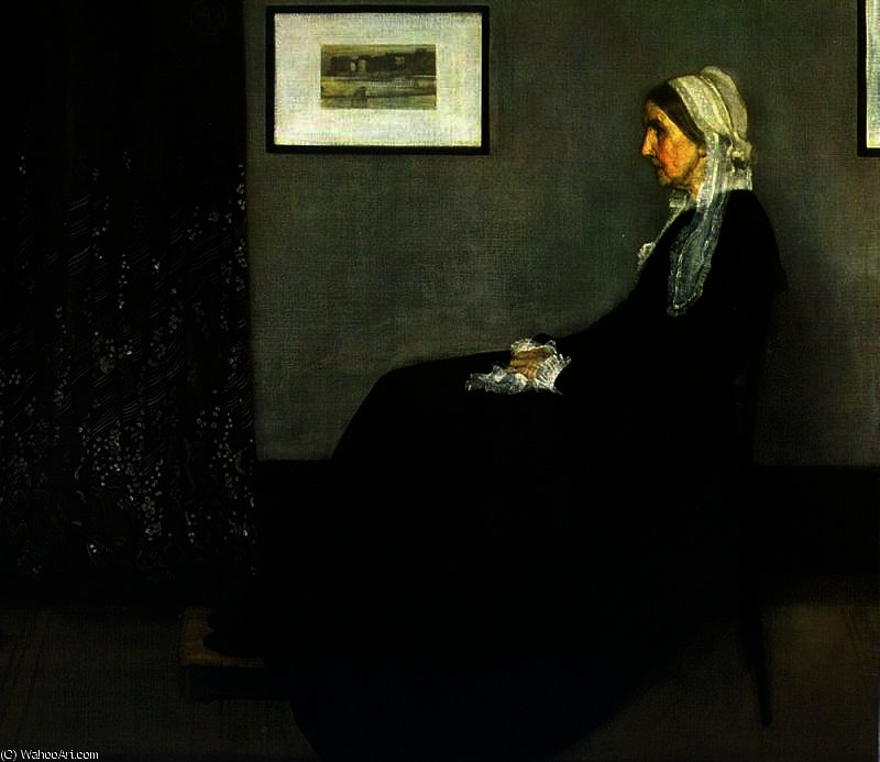 famous painting Arrangement in Grey and Black of James Abbott Mcneill Whistler