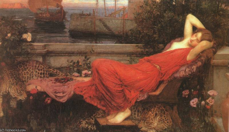 famous painting untitled (6668) of John William Waterhouse
