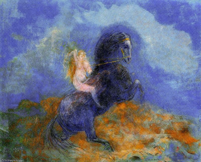 famous painting untitled (989) of Odilon Redon