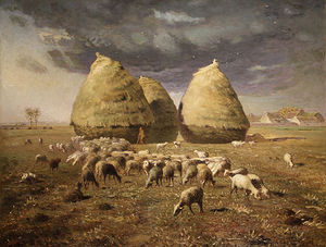 Jean-François Millet - haystacks autumn