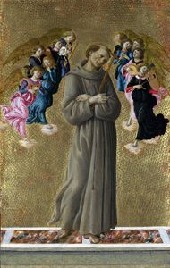 Sandro Botticelli - Saint Francis of Assisi with Angels