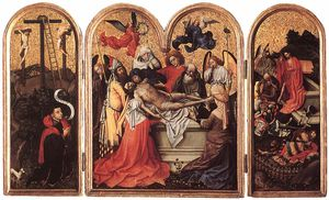 Robert Campin (Master Of Flemalle) - triptych-Seilern Triptych