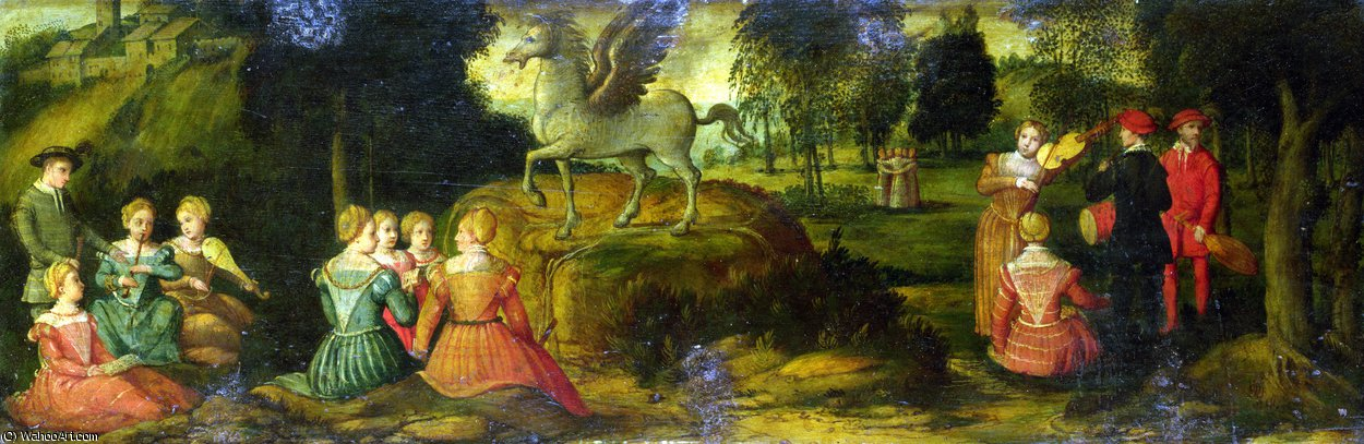 famous painting Pegasus and the Muses of Girolamo Romanino