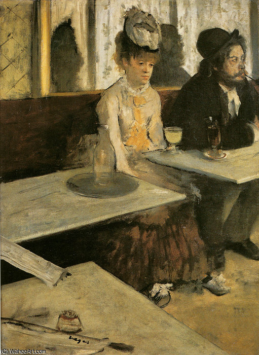 famous painting Absinthe of Edgar Degas