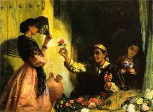 Edwin Longsden Long - A spanish flower seller