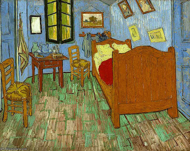 famous painting The bedroom of Vincent Van Gogh