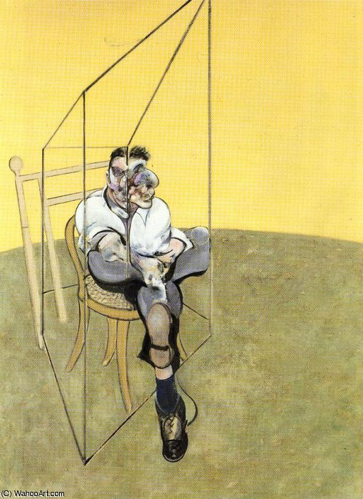 famous painting Three Studies of Lucian Freud, left of Francis Bacon