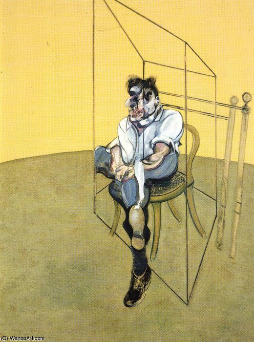 famous painting Three Studies of Lucian Freud, right of Francis Bacon