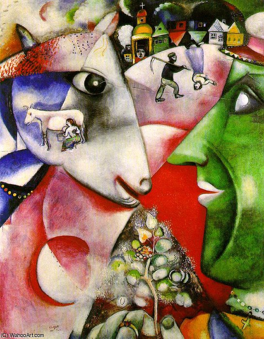 | I and the Village, Moma NY by Marc Chagall | Most-Famous-Paintings.com