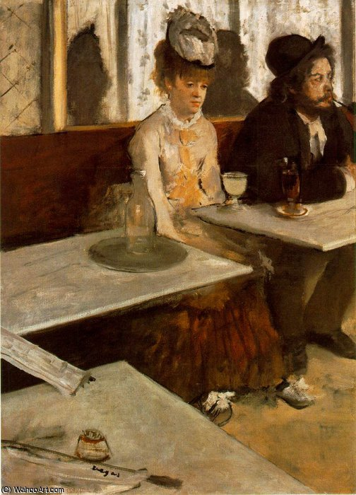 Order Paintings Reproductions | L'labsinth, Musee d'Orsay, Paris by Edgar Degas | Most-Famous-Paintings.com