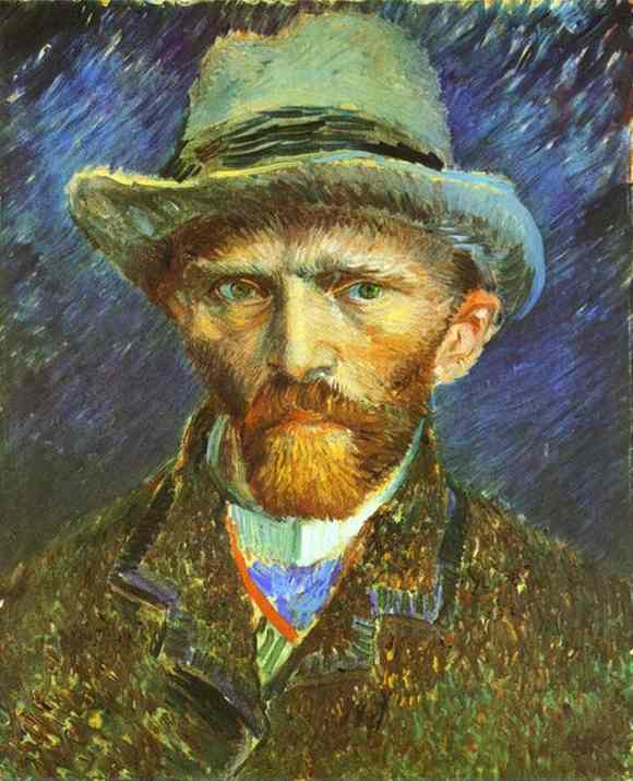famous painting Autoportrait of Vincent Van Gogh