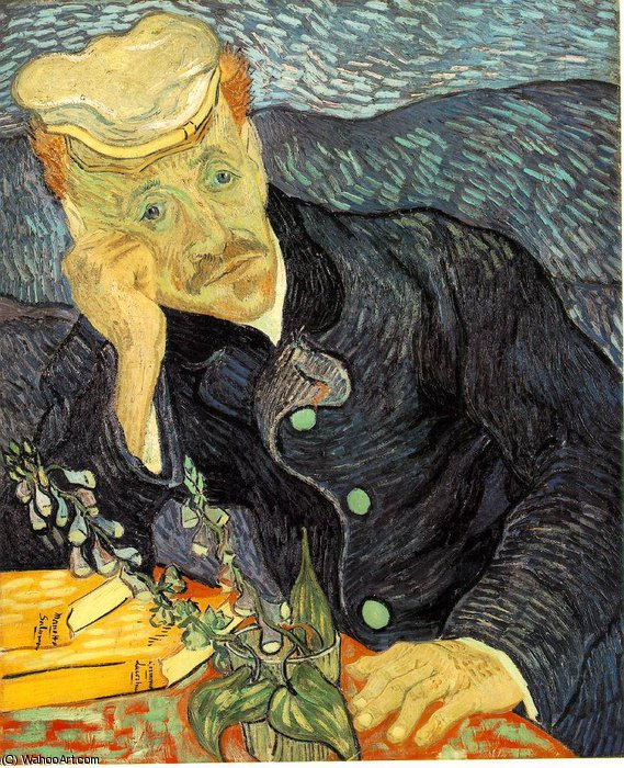 Order Museum Quality Copies | Portrait of Dr. Gachet, Private by Vincent Van Gogh | Most-Famous-Paintings.com