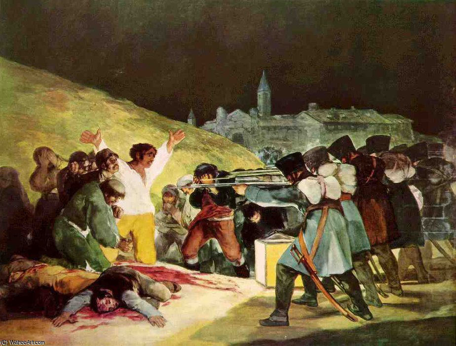 Order Museum Quality Copies | Los Fusilamientos del Tres de Mayo by Francisco De Goya | Most-Famous-Paintings.com