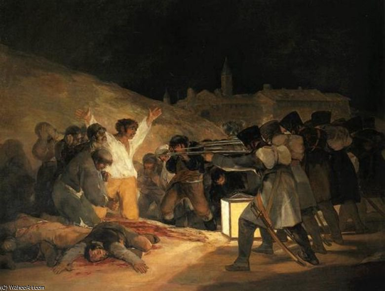 Order Art Reproductions : Il tre Maggio (le fucilazioni). . Madrid, Museo d by Francisco De Goya | Most-Famous-Paintings.com