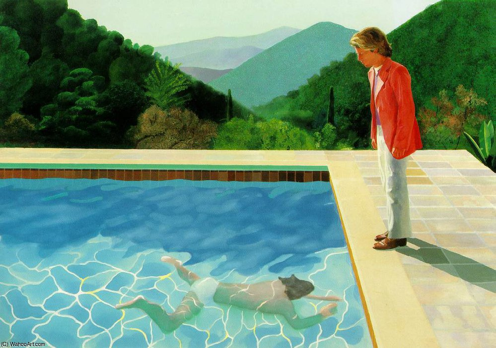 famous painting Pool 2 figures of David Hockney