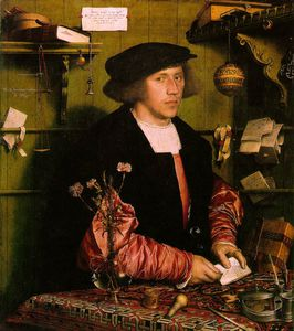 Hans Holbein The Younger - Georg gisze, a german merchant in london gemäld