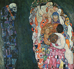 Gustav Klimt - Death and Life, painted before and revised