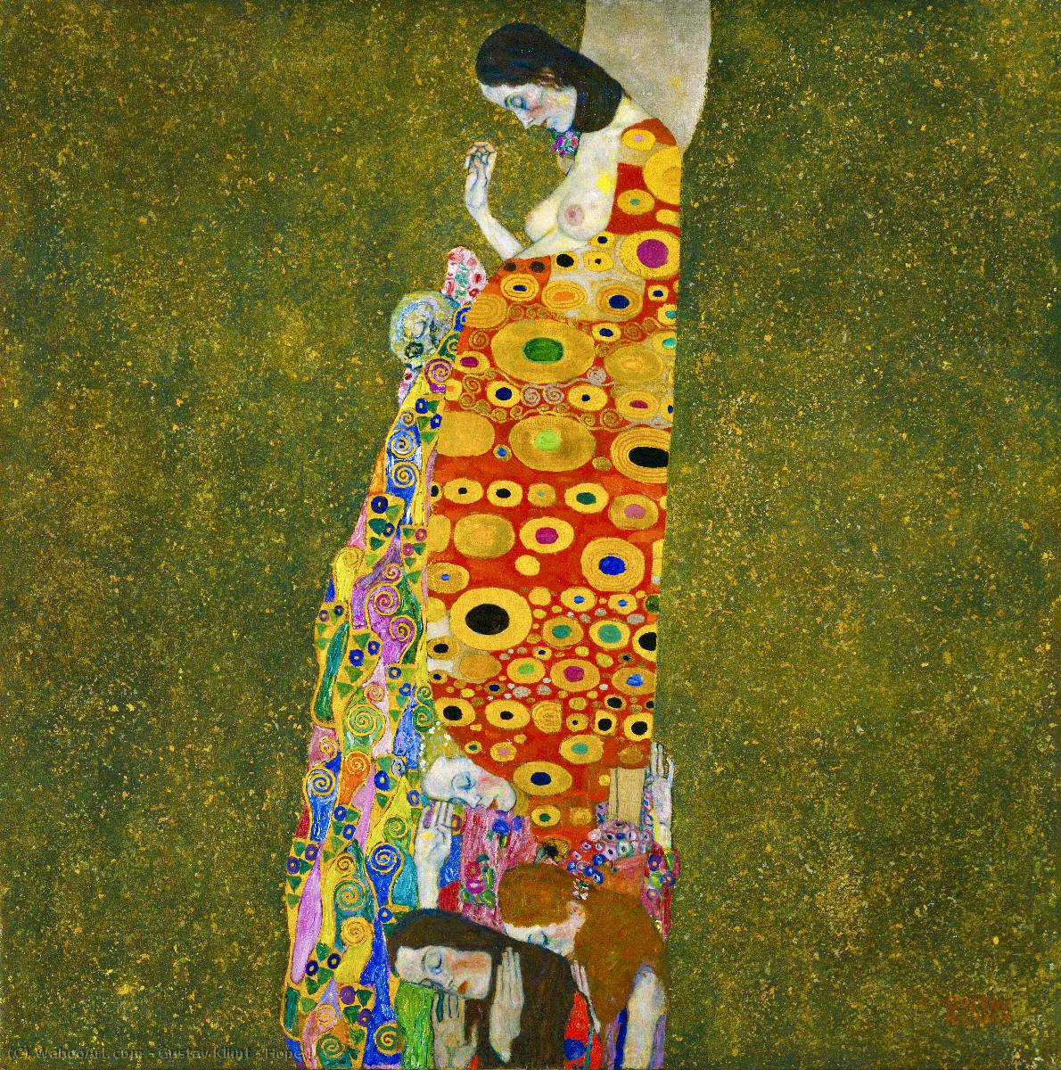 famous painting Hope II of Gustav Klimt