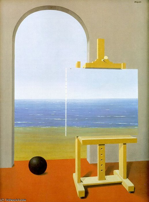 famous painting Human condition of Rene Magritte