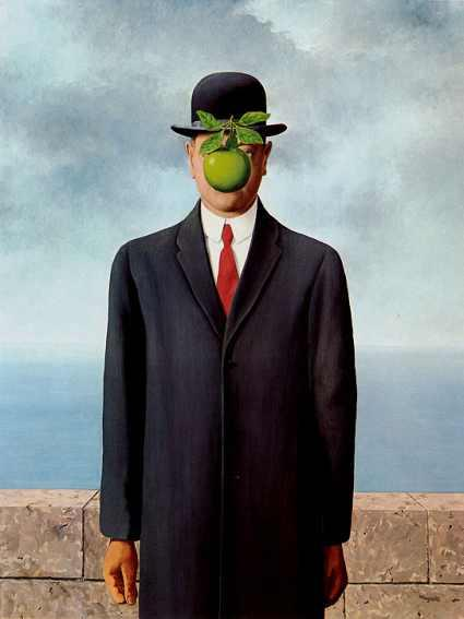 famous painting The Son of the Man of Rene Magritte