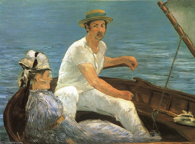 Buy Museum Art Reproductions | Boating, Metropolitan Museum of Art, New York by Edouard Manet | Most-Famous-Paintings.com