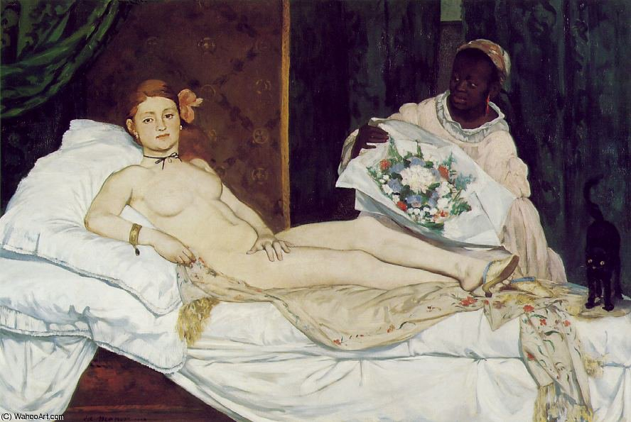 Order Reproductions | Olympia, Musee d'Orsay, Paris by Edouard Manet | Most-Famous-Paintings.com