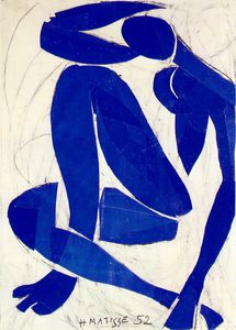 Henri Matisse - Nu bleu (iv), spring Gouache on paper, cut and