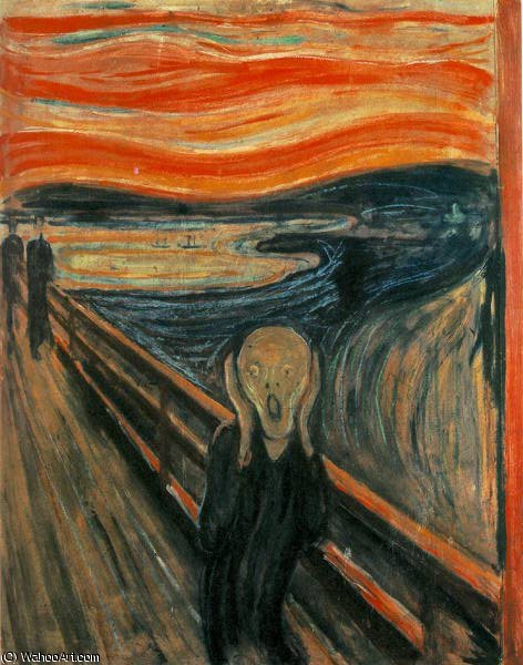 famous painting Skriet oslo of Edvard Munch