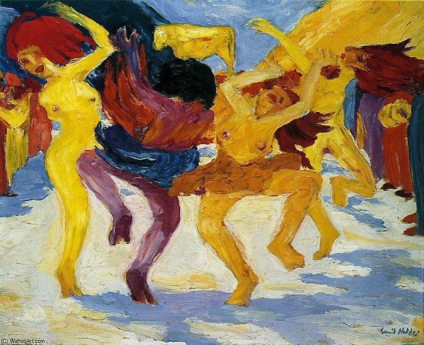 famous painting Golden calf of Emile Nolde