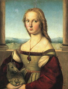 Raphael (Raffaello Sanzio Da Urbino) - The Woman with the Unicorn, approx. Galleria