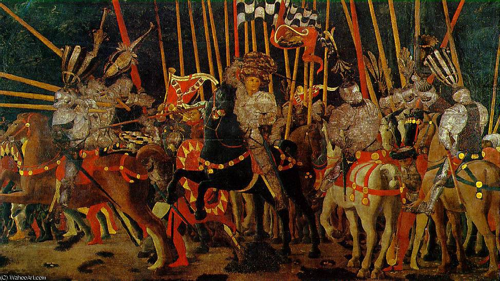 famous painting The battle of san romano - the counter-attack by mich of Paolo Uccello