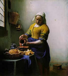 Jan Vermeer - The milkmaid, ca Rijksmuseum,