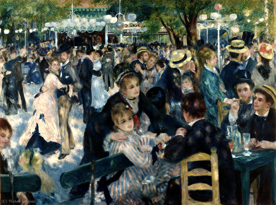 famous painting Dance at the Moulin de la Galette of Pierre-Auguste Renoir